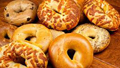 assorted flavors of bagels